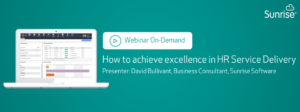 How to achieve excellence in HR Service Delivery