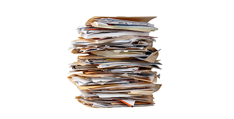The battle of the manual paperwork mountain….