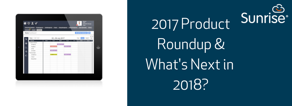 Product News, 2017 Round-up and 2018 news