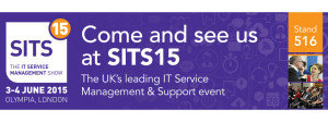 The IT Service Management Show (SITS), 3rd to 4th June 2015