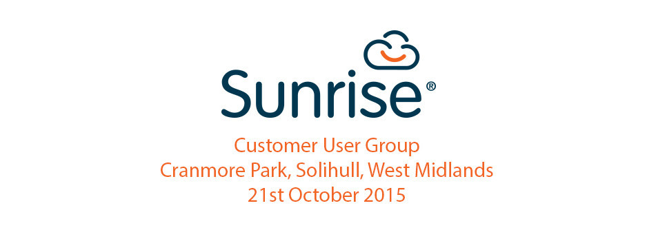 Customer User Group 21st October 2015 – the presentations