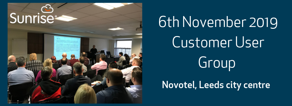 6th Nov: Customer User Group, Leeds