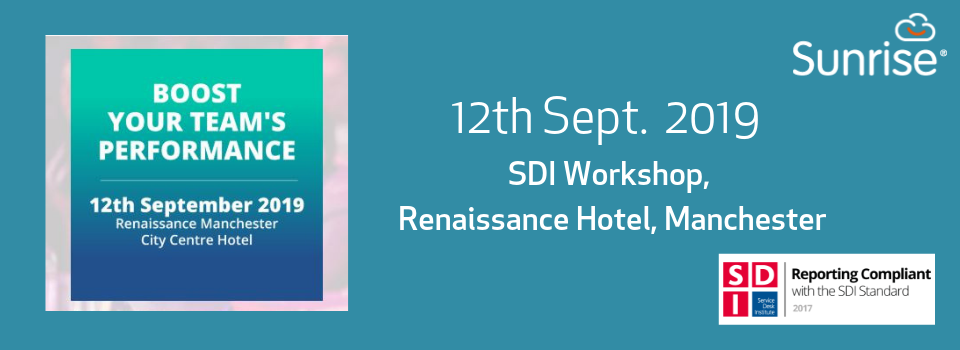 12th Sept.: SDI Boost Your Team's Performance
