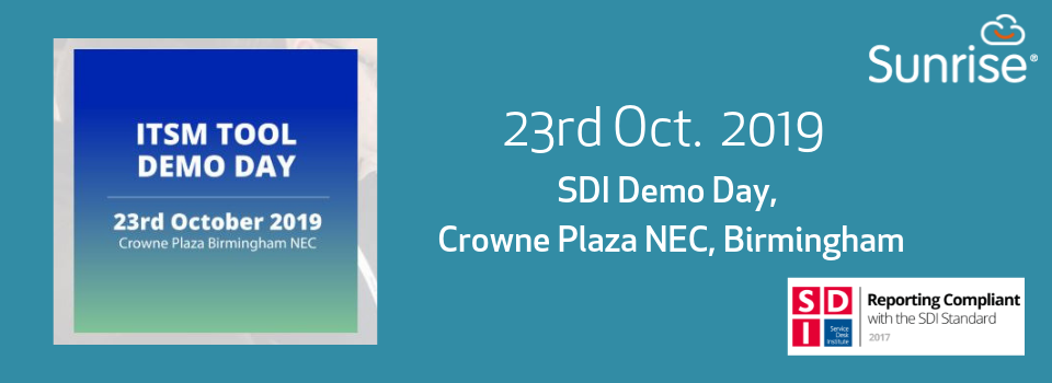 23rd Oct: SDI ITSM Tools Demo Day